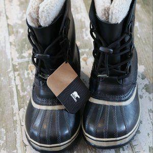 NWT SOREL Youth YOOT Pac Waterproof Boots Black 5
